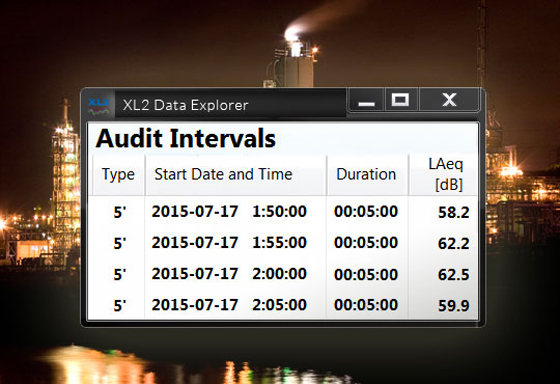 XL2 Data Explorer software